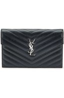 Сумка Monogram Envelope из стеганой кожи Saint Laurent синего цвета | Фото №1