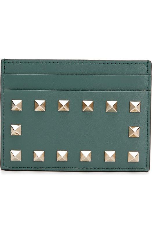 Кожаный футляр для кредитных карт Rockstud с заклепками Valentino LW2P0486/B0L