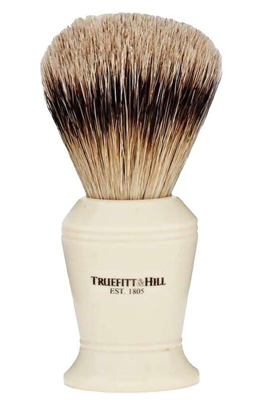Кисть для бритья, Ворс серебристого барсука / Слоновая кость с серебром / Carlton TruefittHill 00165
