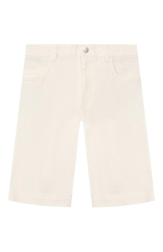 Джинсовые шорты с отворотами Loro PianaШорты<br><br><br>Размер Years: 10<br>Пол: Мужской<br>Возраст: Детский<br>Размер производителя vendor: 140-146cm<br>Материал: Хлопок: 98%; Полиуретан: 2%;<br>Цвет: Белый