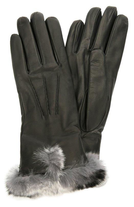 Кожаные перчатки с отделкой из меха кролика Sermoneta GlovesПерчатки<br>Удлиненные перчатки Bebe созданы вручную из матовой кожи наппа черного цвета. Модель с подкладкой из мягкого кашемира вошла в коллекцию сезона осень-зима 2016 года. Аксессуар оторочен пушистым мехом кролика породы рекс. Лицевая сторона украшена объемными швами.<br><br>Российский размер RU: 7<br>Пол: Женский<br>Возраст: Взрослый<br>Размер производителя vendor: 7<br>Материал: Кожа натуральная: 100%; Подкладка-кашемир: 100%; Отделка мех./кролик/: 100%;<br>Цвет: Черный
