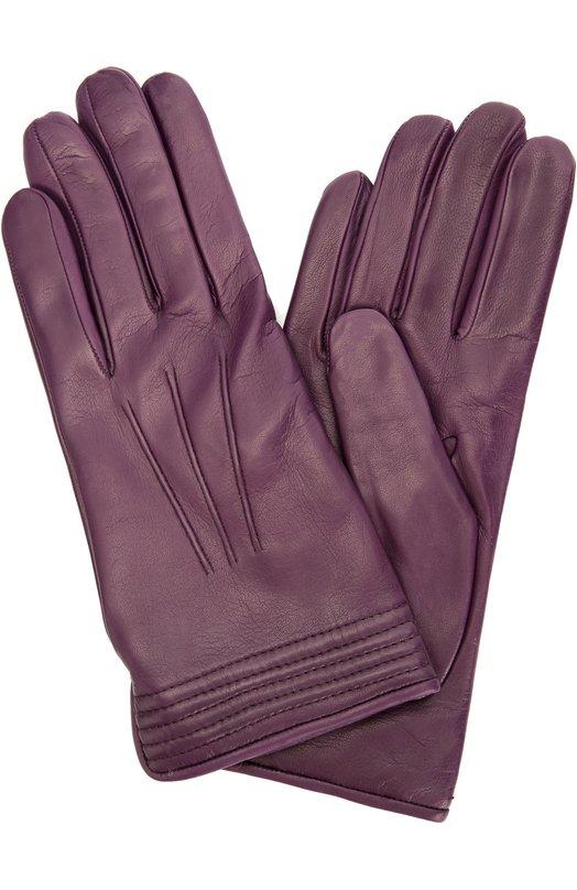 Кожаные перчатки с подкладкой из кашемира Sermoneta GlovesПерчатки<br>В осенне-зимнюю коллекцию марки, основанной Джорджио Сермонета, вошли укороченные перчатки с небольшим вырезом на запястье. Темно-фиолетовый аксессуар из ультрамягкой матовой кожи ручной выделки украшен объемными швами. Подкладка выполнена из мягкого кашемира.<br><br>Российский размер RU: 6<br>Пол: Женский<br>Возраст: Взрослый<br>Размер производителя vendor: 6<br>Материал: Кожа натуральная: 100%; Подкладка-кашемир: 100%;<br>Цвет: Темно-фиолетовый
