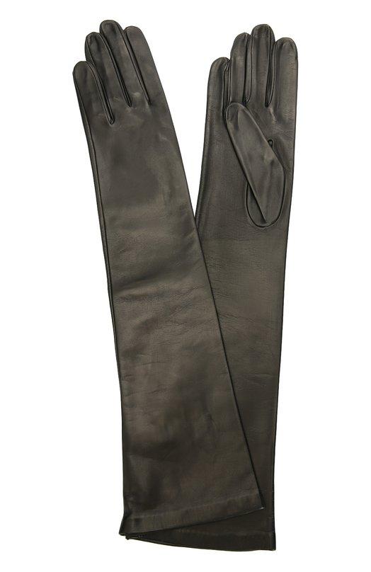 Длинные кожаные перчатки Sermoneta GlovesПерчатки<br>В коллекцию сезона осень-зима 2016 года вошли длинные перчатки с подкладкой из гладкого шелка. Мастера марки, основанной Джорджио Сермонета, изготовили модель вручную из мягкой матовой кожи ручной выделки.<br><br>Российский размер RU: 6<br>Пол: Женский<br>Возраст: Взрослый<br>Размер производителя vendor: 6-5<br>Материал: Подкладка-шелк: 100%; Кожа натуральная: 100%;<br>Цвет: Черный