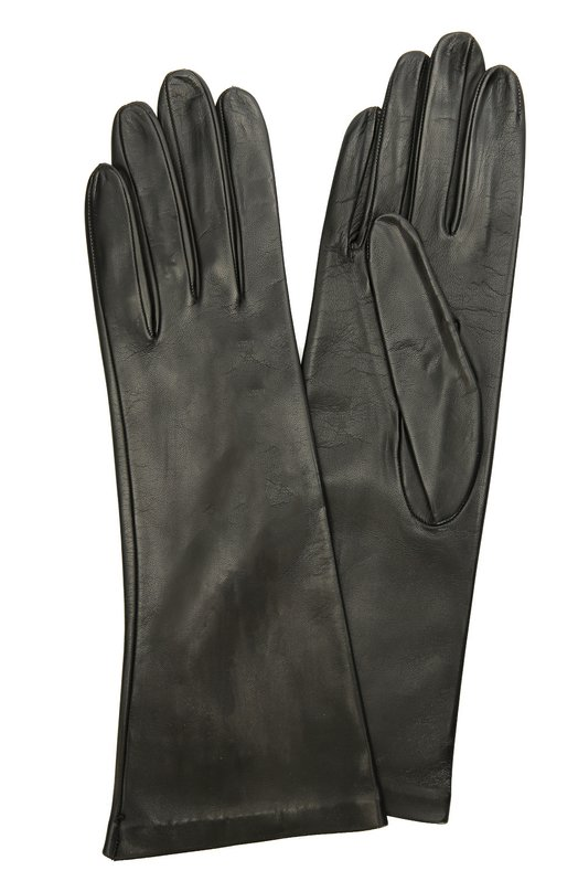 Кожаные перчатки Sermoneta GlovesПерчатки<br>Для изготовления черных перчаток из матовой кожи наппа потребовалось 28 этапов работы десяти ремесленников. Удлиненный аксессуар, дополненный подкладкой из мягкого шелка, вошел в коллекцию сезона осень-зима 2016 года.<br><br>Российский размер RU: 8<br>Пол: Женский<br>Возраст: Взрослый<br>Размер производителя vendor: 8<br>Материал: Подкладка-шелк: 100%; Кожа натуральная: 100%;<br>Цвет: Черный