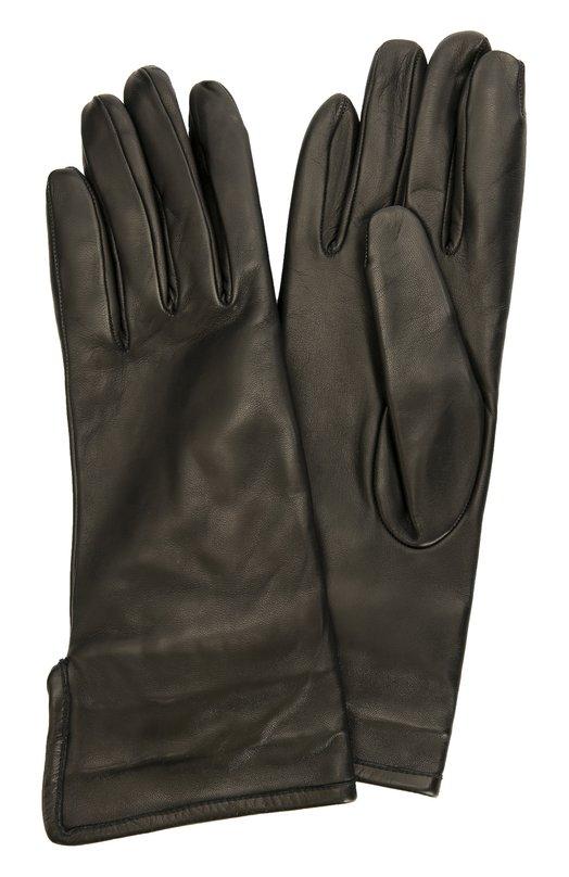 Кожаные перчатки с подкладкой из кашемира Sermoneta GlovesПерчатки<br>Для производства черных перчаток из осенне-зимней коллекции 2016 года мастера бренда, основанного Джорджио Сермонета, использовали матовую гладкую кожу. Модель с разрезом на манжете дополнена тонкой мягкой кашемировой подкладкой.<br><br>Российский размер RU: 7<br>Пол: Женский<br>Возраст: Взрослый<br>Размер производителя vendor: 7<br>Материал: Кожа натуральная: 100%; Подкладка-кашемир: 100%;<br>Цвет: Черный