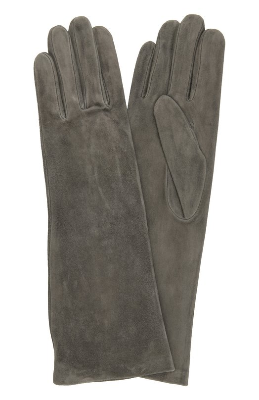 Удлиненные замшевые перчатки AgnelleПерчатки<br>В коллекцию сезона осень-зима 2016 года вошли удлиненные перчатки темно-серого цвета. Для производства модели мастера марки использовали тонкую фактурную замшу, для подкладки — гладкий, приятный на ощупь шелк.<br><br>Российский размер RU: 7<br>Пол: Женский<br>Возраст: Взрослый<br>Размер производителя vendor: 7-5<br>Материал: Подкладка-шелк: 100%; Замша натуральная: 100%;<br>Цвет: Темно-серый
