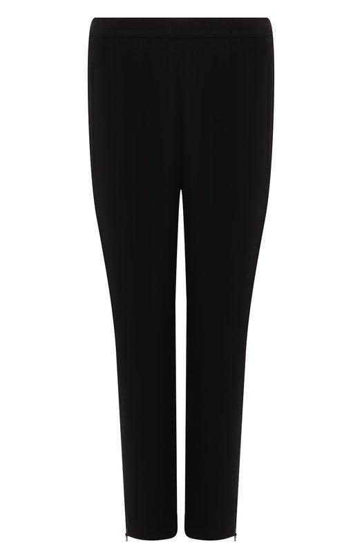 Брюки прямого кроя с эластичным поясом и декоративными молниями Stella McCartneyБрюки<br>Яркие женские брюки укороченного кроя, которые будут идеально смотреться с пуловером и кедами. Идеальный вариант на каждый день.<br><br>Российский размер RU: 48<br>Пол: Женский<br>Возраст: Взрослый<br>Размер производителя vendor: 46<br>Материал: Вискоза: 64%; Спандекс: 4%; Ацетат: 32%;<br>Цвет: Синий