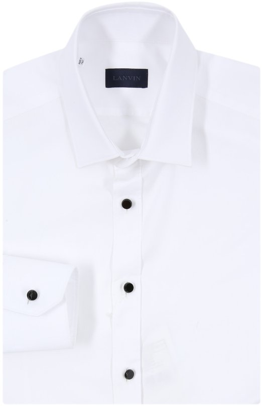 Классическая сорочка с контрастными пуговицами Lanvin RMSI0007-S01100P15