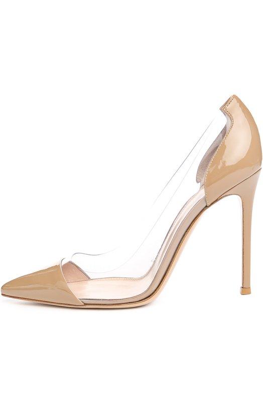Купить Лаковые туфли Plexi на шпильке Gianvito Rossi Италия 4312962 G20140/PATENT+PLEXY/VERNICE PLEXY