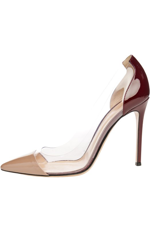 Лаковые туфли Plexi на шпильке Gianvito Rossi G20140/PATENT+PLEXY/VERNICE PLEXY