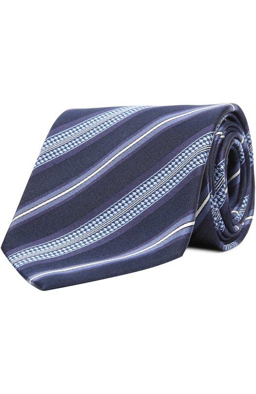 Шелковый галстук в полоску Brioni 063I/P44FZ