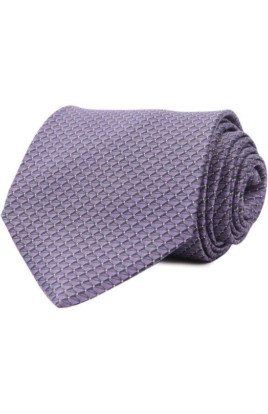 Шелковый комплект из галстука и платка LanvinГалстуки<br><br><br>Пол: Мужской<br>Возраст: Взрослый<br>Размер производителя vendor: NS<br>Материал: Шелк: 100%;<br>Цвет: Фиолетовый
