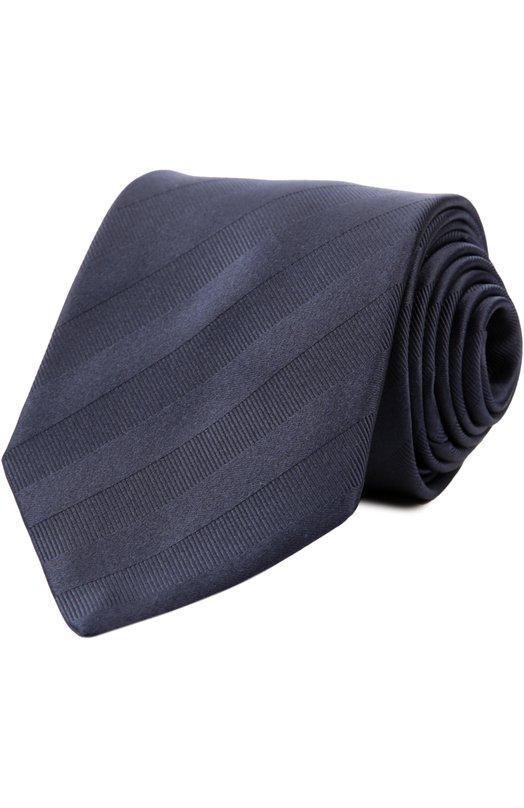 Галстук в полоску из смеси шелка и хлопка LanvinГалстуки<br>Для изготовления синего галстука мастера бренда, основанного Жанной Ланван, использовали плотный матовый шелк с добавлением хлопковых нитей. Модель в фактурную диагональную полоску вошла в коллекцию сезона осень-зима 2016 года.<br><br>Пол: Мужской<br>Возраст: Взрослый<br>Размер производителя vendor: NS<br>Материал: Шелк: 60%; Хлопок: 40%;<br>Цвет: Темно-синий