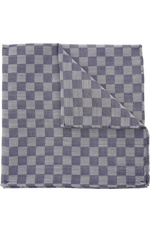 Носовой платок из смеси хлопка с шелком Simonnot-GodardПлатки<br><br><br>Пол: Мужской<br>Возраст: Взрослый<br>Размер производителя vendor: NS<br>Материал: Шелк: 50%; Хлопок: 50%;<br>Цвет: Серый