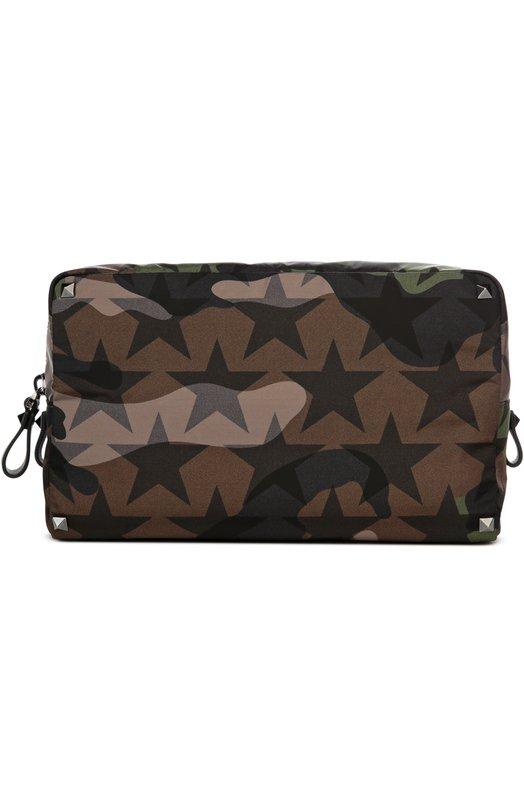 Несессер Rockstud Camustars ValentinoДорожные сумки<br><br><br>Пол: Мужской<br>Возраст: Взрослый<br>Размер производителя vendor: NS<br>Материал: Текстиль: 100%;<br>Цвет: Зеленый