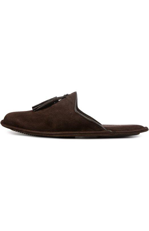 Замшевые домашние туфли без задника Homers At Home