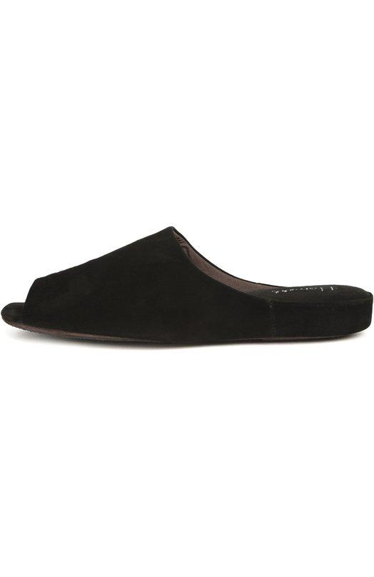 Замшевые домашние туфли с открытым мысом Homers At Home