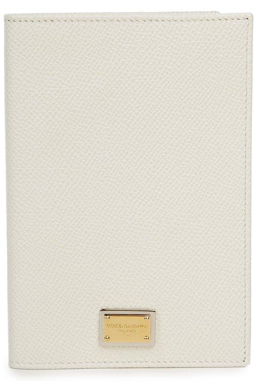 Кожаная обложка для документов Dolce &amp; GabbanaОбложки и футляры<br><br><br>Пол: Женский<br>Возраст: Взрослый<br>Размер производителя vendor: NS<br>Материал: Кожа натуральная: 100%;<br>Цвет: Белый