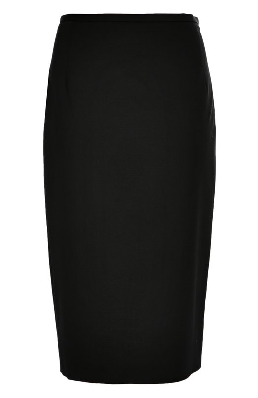 Юбка-карандаш из шерсти Michael KorsЮбки<br>Майкл Корс включил в коллекцию сезона осень-зима 2016 года юбку-карандаш длиной до середины колена. Для создания черной модели была использована плотная шерсть с добавлением эластичных волокон. Изделие со шлицей застегивается сбоку на потайную молнию.<br><br>Российский размер RU: 38<br>Пол: Женский<br>Возраст: Взрослый<br>Размер производителя vendor: 0<br>Материал: Шерсть: 98%; Подкладка-вискоза: 56%; Подкладка-полиэстер: 44%; Эластан: 2%;<br>Цвет: Черный