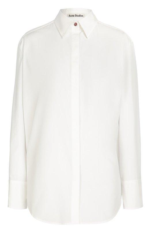 Хлопковая блуза прямого кроя Acne Studios 11B163