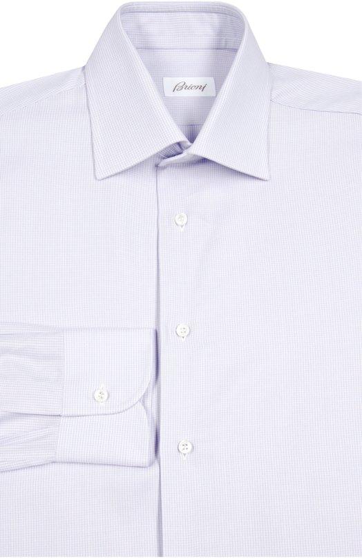 Сорочка из смеси хлопка и шелка с узором Brioni RCL9/0501H