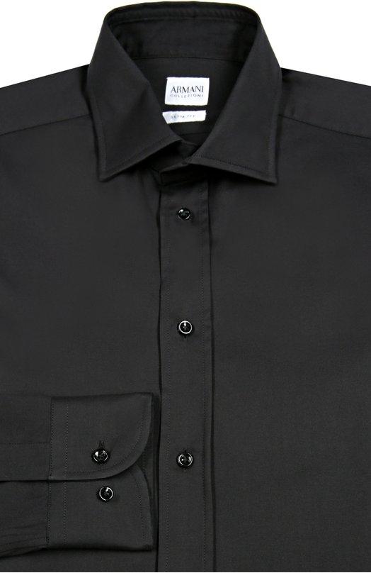 Однотонная сорочка из эластичного хлопка Armani Collezioni UCCS8L/UCC45