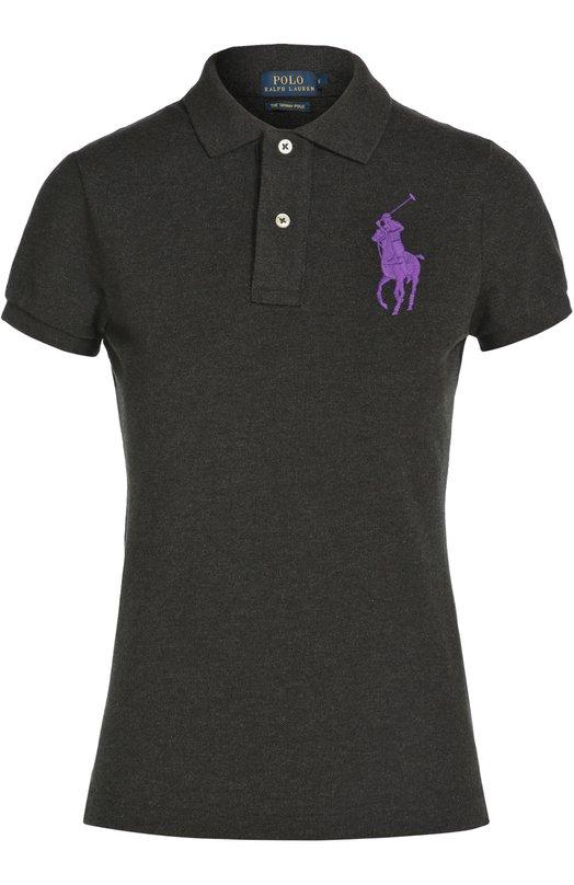 Купить Поло с вышитым логотипом бренда Polo Ralph Lauren, V38/I0BPP/C9416, Вьетнам, Черный, Хлопок: 100%;