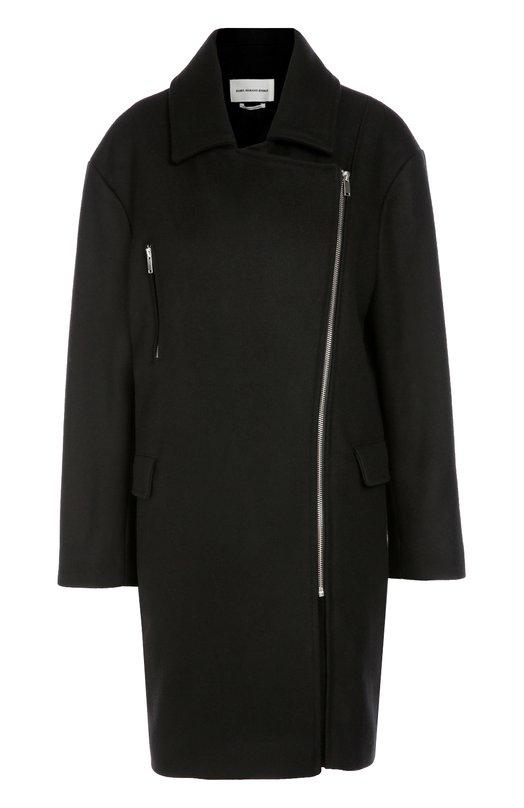 Пальто прямого кроя с косой молнией Isabel Marant Etoile 16A005E/ELSA