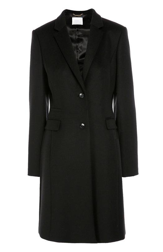 Приталенное шерстяное пальто с карманами BOSS 50319645