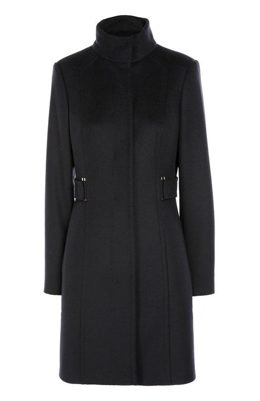 Приталенное шерстяное пальто с высоким воротником BOSS 50319460
