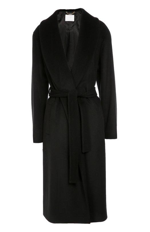 Шерстяное пальто с широкими лацканами и поясом BOSS 50319293