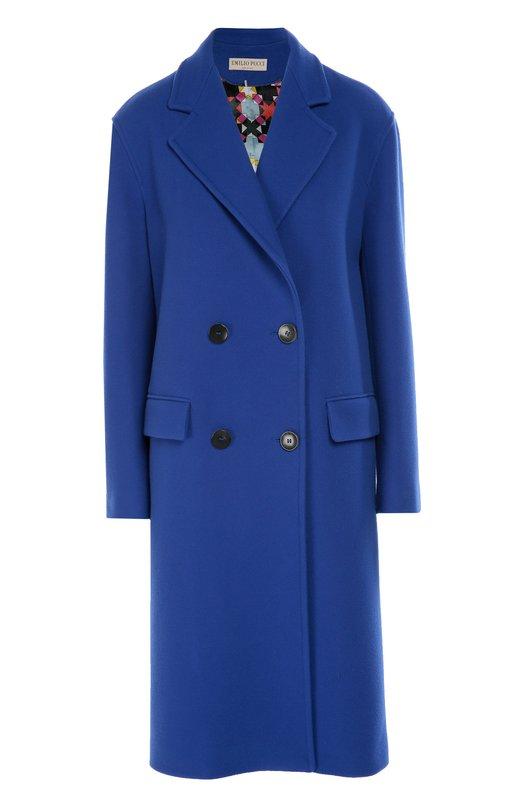 Двубортное пальто прямого кроя Emilio Pucci 66/RA25/66605