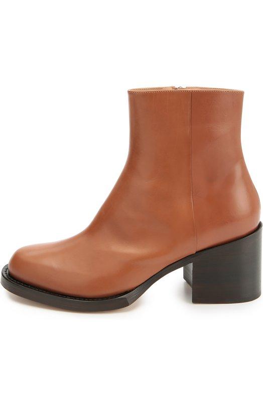 Кожаные ботинки на устойчивом каблуке Dries Van Noten WW20/455/QU200