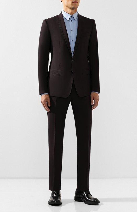 Шерстяной костюм с декоративной прострочкой Dolce & Gabbana 0101/G13TMT/FUBBG