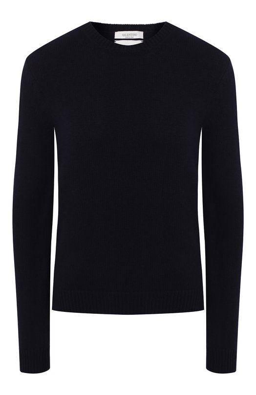 Купить Кашемировый пуловер с круглым вырезом и заклепками Valentino, LB3KC16N/2SL, Италия, Синий, Кашемир: 100%;