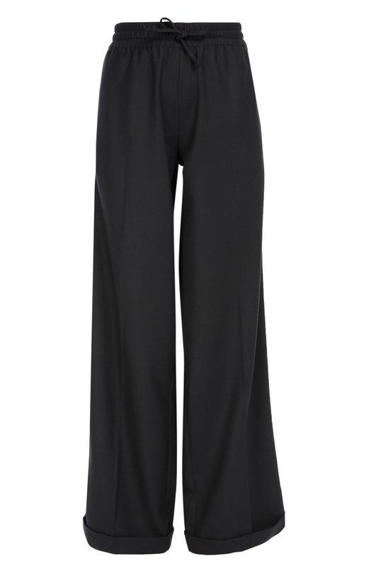 Шерстяные брюки прямого кроя с эластичным поясом Valentino LB3RB00U/275