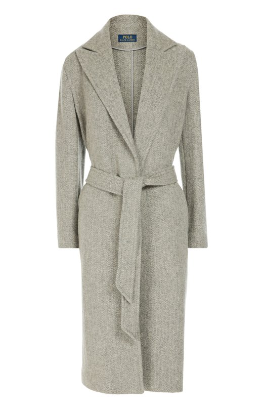 Шерстяное пальто с поясом и широкими лацканами Polo Ralph Lauren V30/IJ284/BJ284