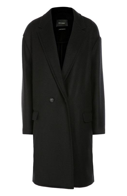 Двубортное пальто со спущенным рукавом Isabel Marant 16A007I/FILIPA
