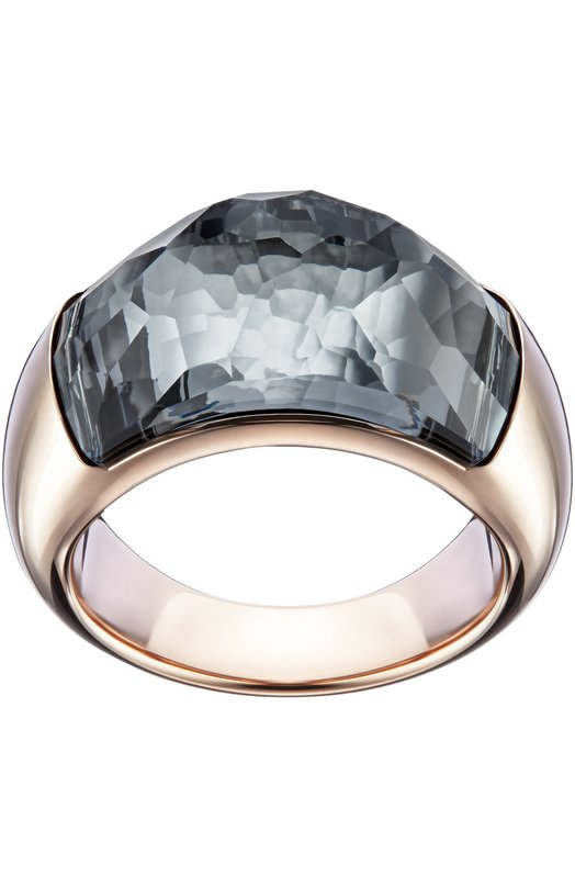 Кольцо Dome SwarovskiКольца<br>Кольцо Dome из полированного металла с покрытием из розового золота вошло в осенне-зимнюю коллекцию 2016 года. Центральный элемент из крупного темно-серого кристалла продолговатой формы полностью погружен в основу.<br><br>Российский размер RU: 17<br>Пол: Женский<br>Возраст: Взрослый<br>Размер производителя vendor: 55<br>Материал: Металл с покрытием из розового золота; Кристаллы Сваровски;<br>Цвет: Черный