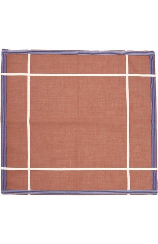 Хлопковый носовой платок в клетку Simonnot-GodardПлатки<br>Для создания коричневого носового платка Socotra был использован мерсеризованный египетский хлопок, произведенный на собственной мануфактуре марки во Франции. Такая ткань приятна на ощупь, почти не мнется и у нее гладкая шелковистая поверхность. Края аксессуара подшиты вручную.<br><br>Пол: Мужской<br>Возраст: Взрослый<br>Размер производителя vendor: NS<br>Материал: Хлопок: 100%;<br>Цвет: Коричневый
