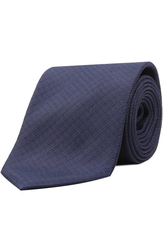 Галстук из фактурного шелка BrioniГалстуки<br><br><br>Пол: Мужской<br>Возраст: Взрослый<br>Размер производителя vendor: NS<br>Материал: Шелк: 100%;<br>Цвет: Темно-синий