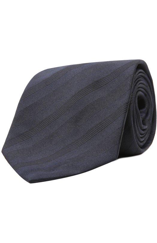 Шелковый галстук в полоску Brioni 063I/P4499