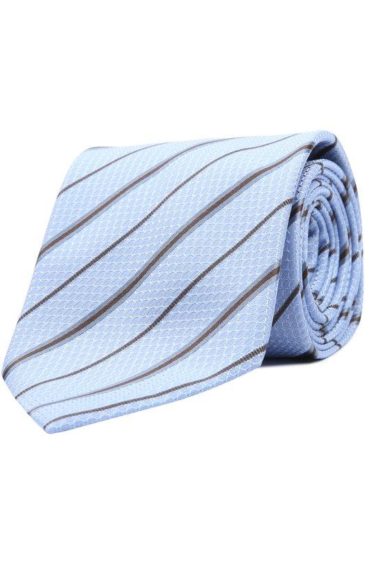 Шелковый галстук в полоску BrioniГалстуки<br><br><br>Пол: Мужской<br>Возраст: Взрослый<br>Размер производителя vendor: NS<br>Материал: Шелк: 100%;<br>Цвет: Светло-голубой