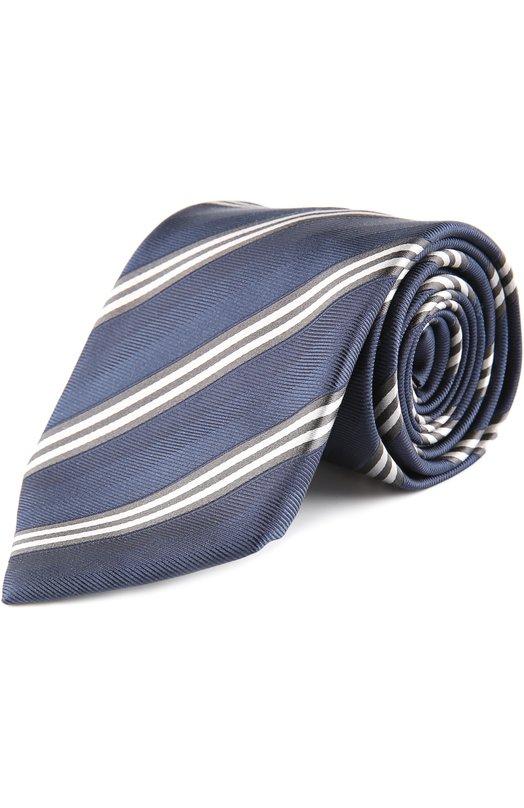 Шелковый галстук в полоску Brioni 063I/P4478
