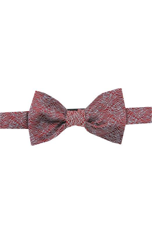 Шелковый галстук-бабочка с узором Lanvin