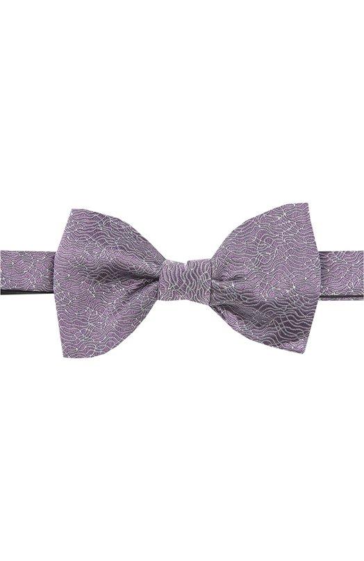 Шелковый галстук-бабочка с узором Lanvin 2053/B0W TIE