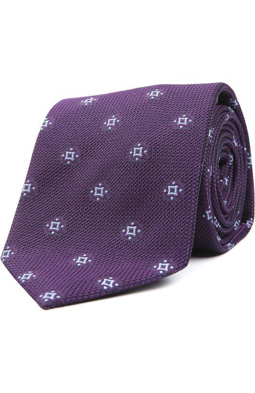 Шелковый галстук с узором Brioni 063I/P4466