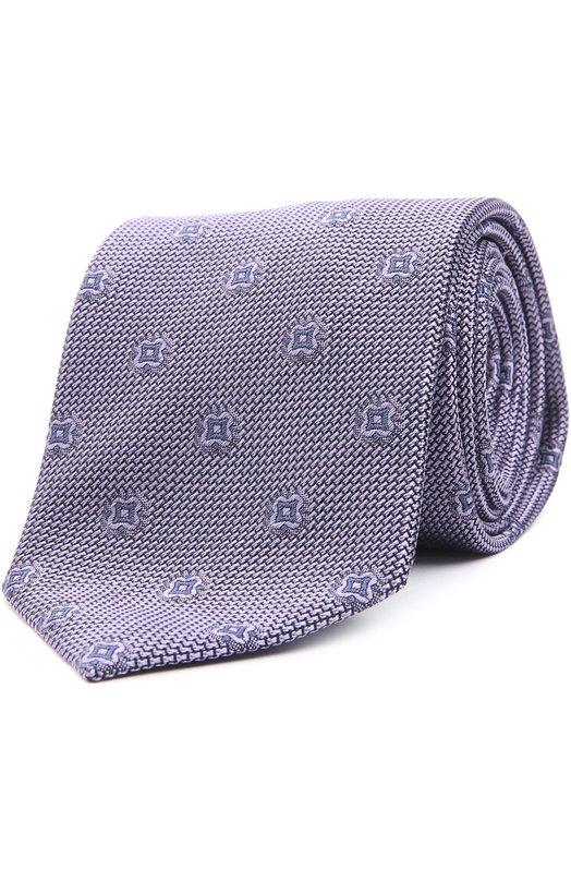 Купить Шелковый галстук с узором Brioni, 063I/P4466, Италия, Сиреневый, Шелк: 100%;