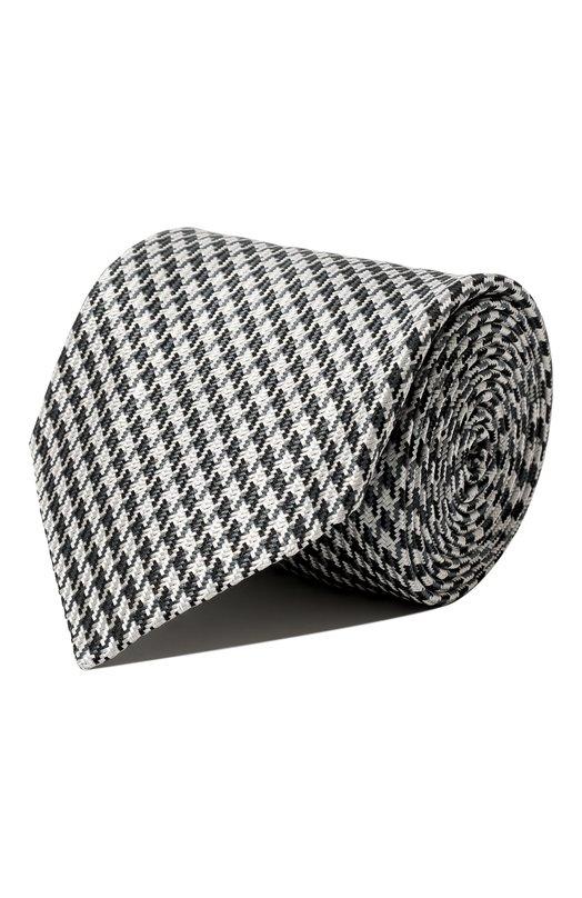 Шелковый галстук с узором houndstooth BrioniГалстуки<br><br><br>Пол: Мужской<br>Возраст: Взрослый<br>Размер производителя vendor: NS<br>Материал: Шелк: 100%;<br>Цвет: Серый