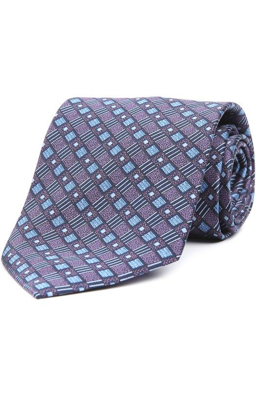 Шелковый галстук с узором Brioni 063I/P446H